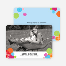 Festive Circles Holiday Photo Cards - Tomato Red
