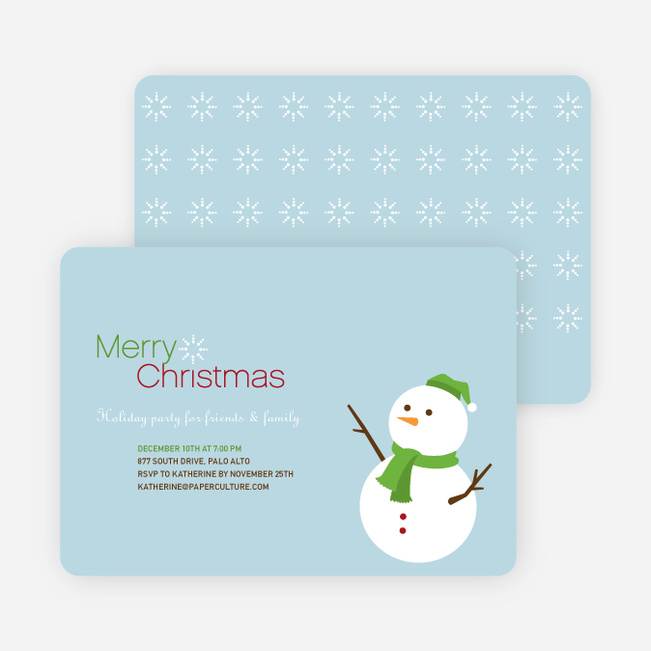 Frosty Fred the Snowman Christmas Cards - Ruby Red
