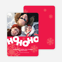 Ho Ho Ho Holiday Photo Card - Candy Red