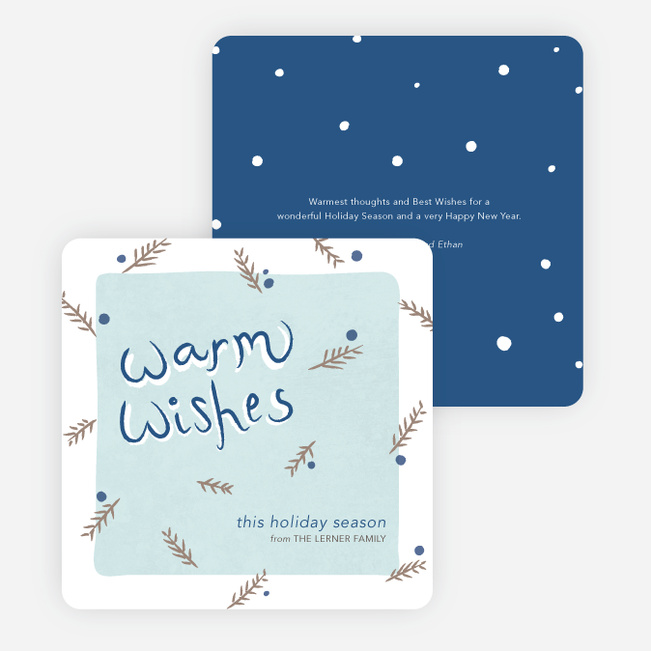 Holiday Cards for Sending Warm Wishes - Blue