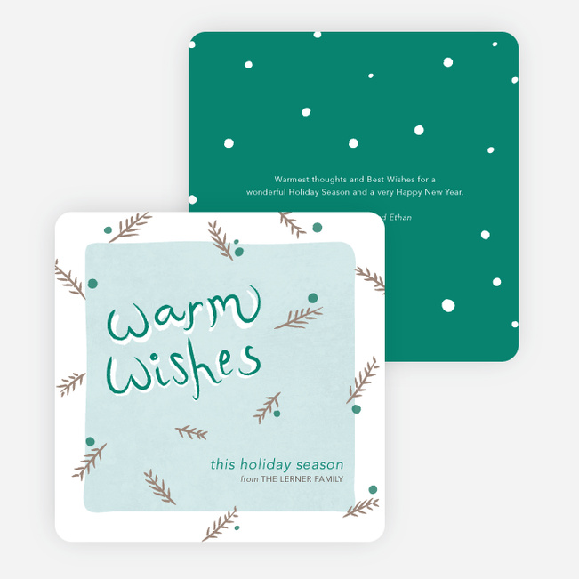 Holiday Cards for Sending Warm Wishes - Green