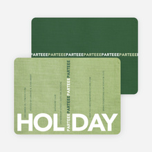 Holiday Parteee Party Invitations - Honeydew