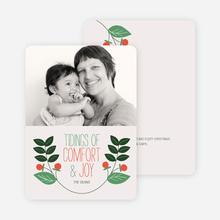 Holly Tidings Holiday Photo Cards - Forest Green
