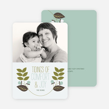 Holly Tidings Holiday Photo Cards - Olive Green
