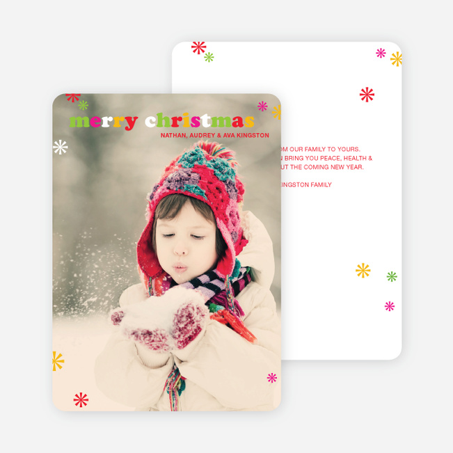 Merry Christmas Simply Photo Cards - Multi