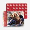 Merry Christmas Snowflake Holiday Photo Cards - True Red