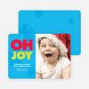 Oh Joy giggle Holiday Photo Card - Bright Aqua