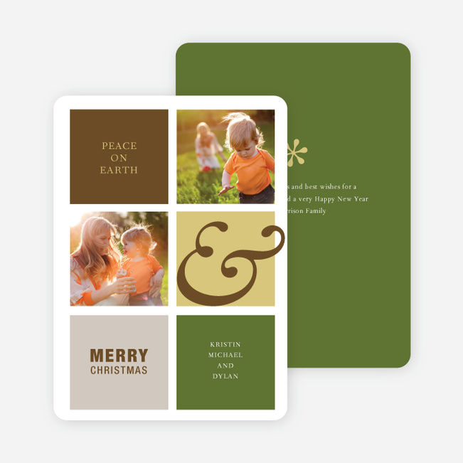 Peace on Earth Holiday Photo Cards - Cocoa