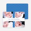 Polkadot Gift Wrap Holiday Photo Cards - Royal Blue
