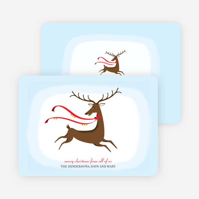 Reindeer Holiday Cards (not Rudolph!) - Tomato Red