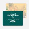 Retro Merry Christmas Cards - Green
