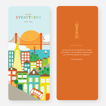 San Francisco Skyline Holiday Cards - Multi