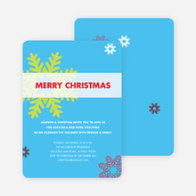 Snowflake Holiday Party Invitations - Light Blue