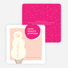 Sweet Snowman Holiday Cards - Pink