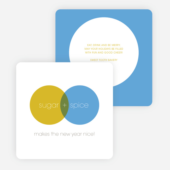 Venn Diagram Corporate Holiday Cards Paper Culture