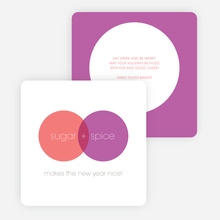 Venn Diagram Corporate Holiday Cards - Purple