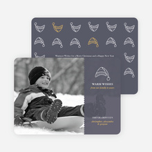 Winter Sledding Holiday Photo Card - Slate Grey