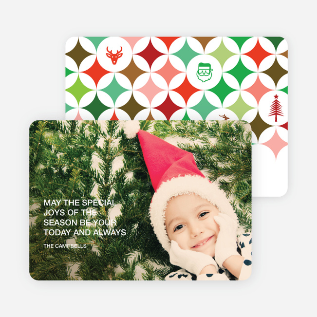 X-Mas Icon Holiday Photo Cards - Multi