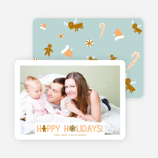 You Can't Catch Me I'm the Gingerbread Man Holiday Cards - Orange