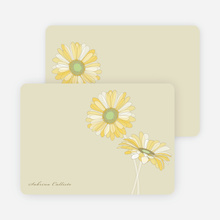 Elegant Flowers Personal Stationery - Rich Soil