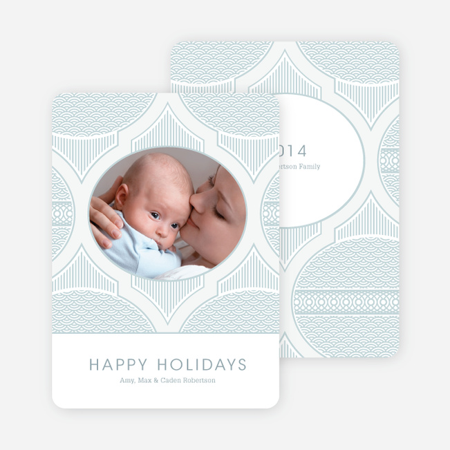 Happy Holidays Star Pattern - Icy Blue