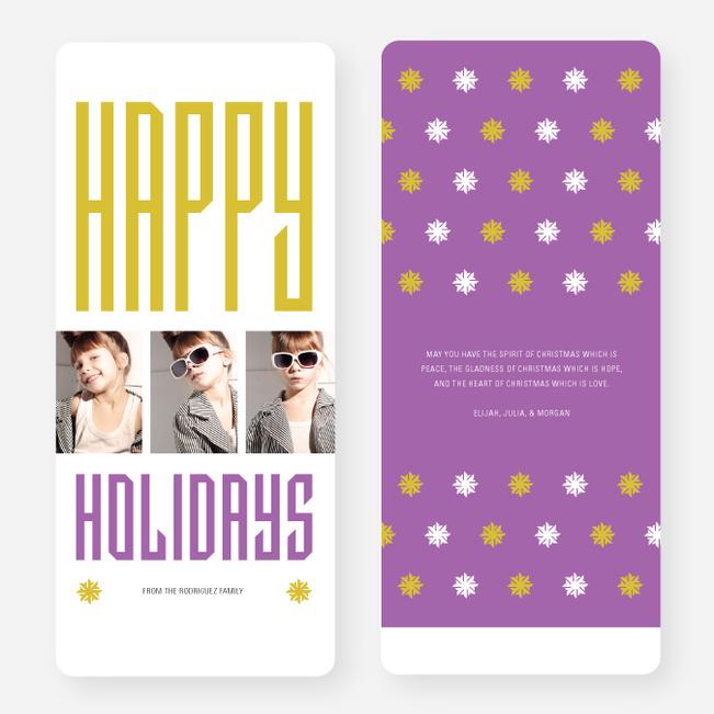 Hollywood Happy Holidays Triple Cards - Purple