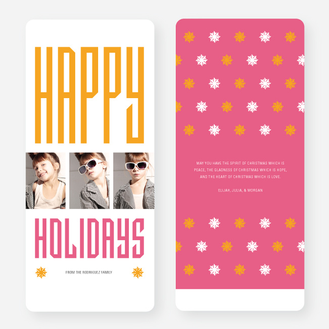 Hollywood Happy Holidays Triple Cards - Red
