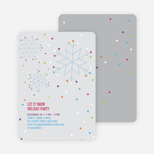 Snow Love Holiday Party Invitations - Ash