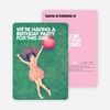 Bold Photo Birthday Invites - Pink