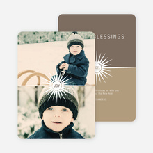 Burst of the Holidays Cards - Brown