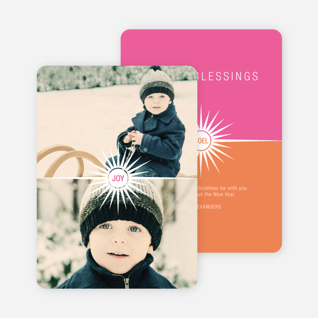 Burst of the Holidays Cards - Pink