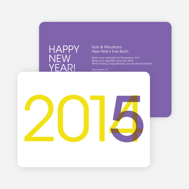 Changing Years New Year's Party Invitation - Purple