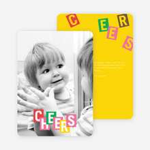 Cheers: Kids and Scrabble Holiday Cards - Multi