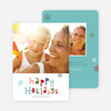 Colorful Happy Holidays Cards - Multi