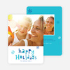 Colorful Happy Holidays Cards - Blue
