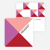 Corporate Patterns Business Holiday Cards - Red