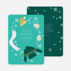 Frozen Christmas Cards - Green