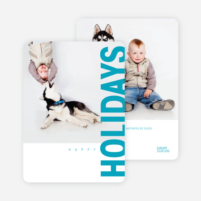 Gifts of the Holidays Cards - Blue