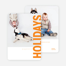 Gifts of the Holidays Cards - Orange