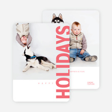 Gifts of the Holidays Cards - Red