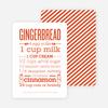 Gingerbread Holiday Recipe Cards - Orange