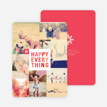 Happy Everything Cards - Red
