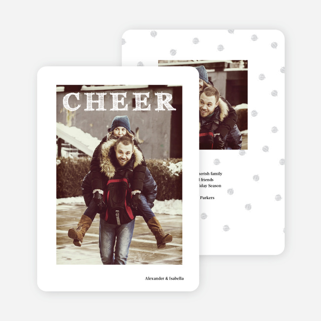 Holiday Cards with Retro Cheer - White