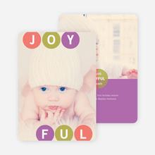 Holiday Photo Cards: Joyful Ornaments - Purple