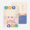 Holiday Photo Cards: Joyful Ornaments - Blue