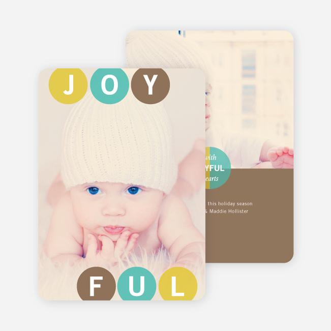 Holiday Photo Cards: Joyful Ornaments - Brown