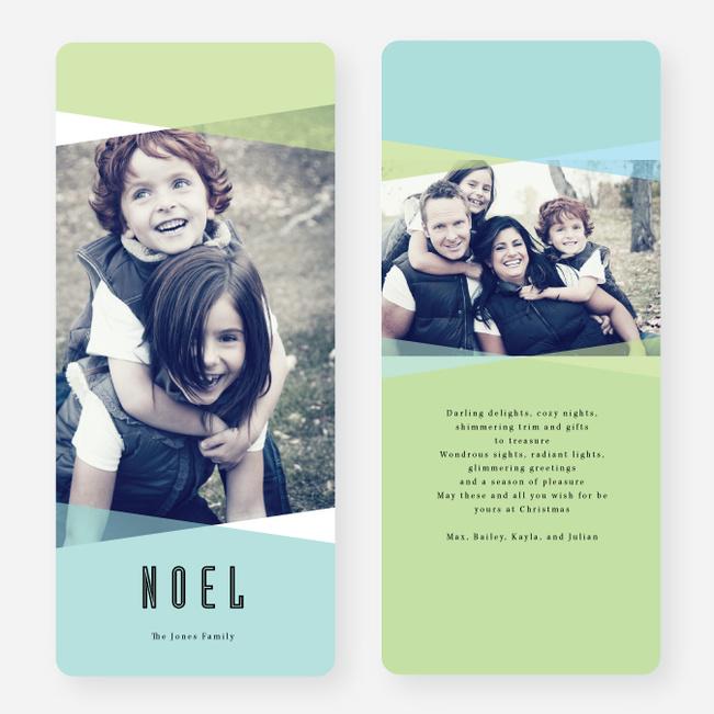 Holiday Shapes Joy Cards - Blue