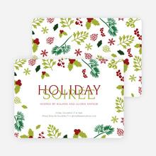 Holiday Soiree Party Invitations - Green