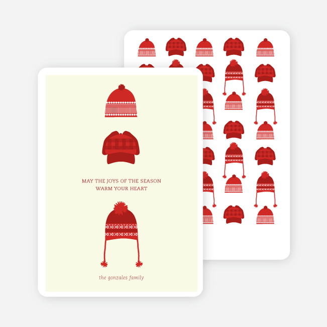 Holiday Warmth Christmas Cards - Red
