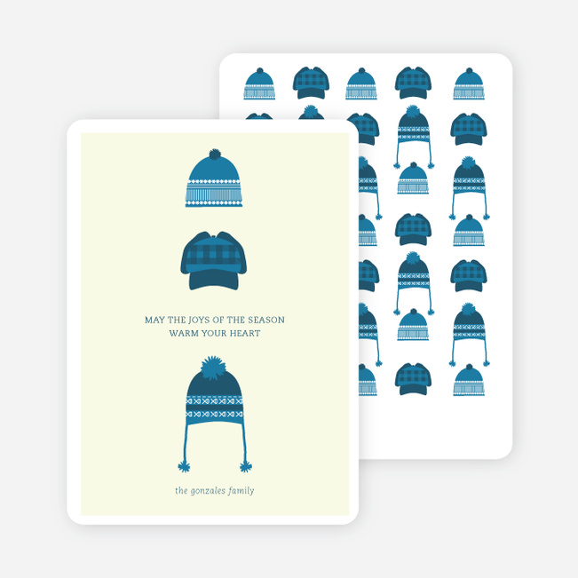Holiday Warmth Christmas Cards - Blue